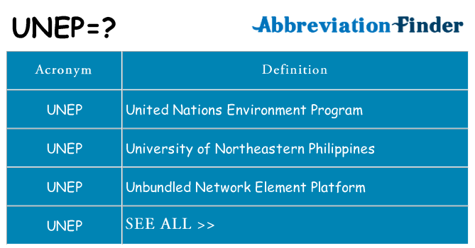 What does unep stand for