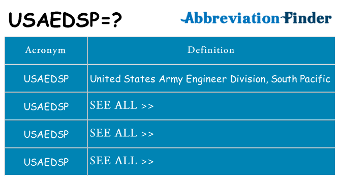 What does usaedsp stand for