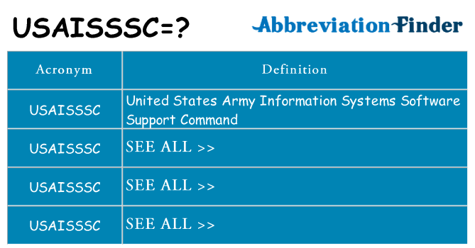 What does usaisssc stand for