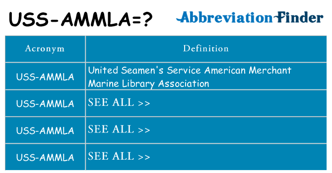 What does uss-ammla stand for