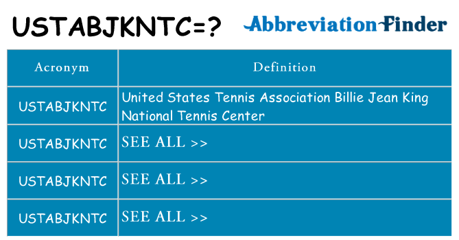 What does ustabjkntc stand for