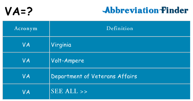 What does va stand for