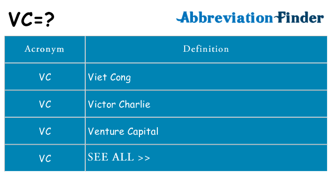 What does vc stand for