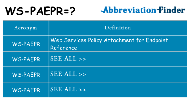 What does ws-paepr stand for