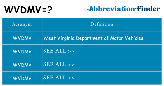 What does wvdmv stand for