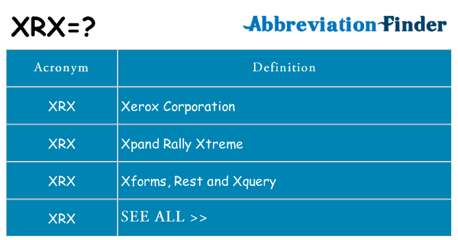 What does xrx stand for