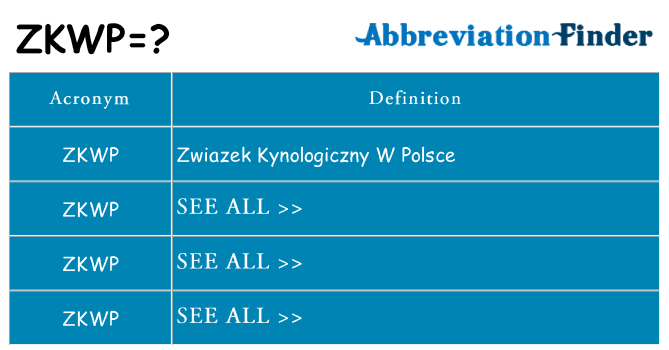 What does zkwp stand for