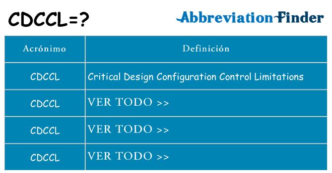 ¿Qué quiere decir cdccl