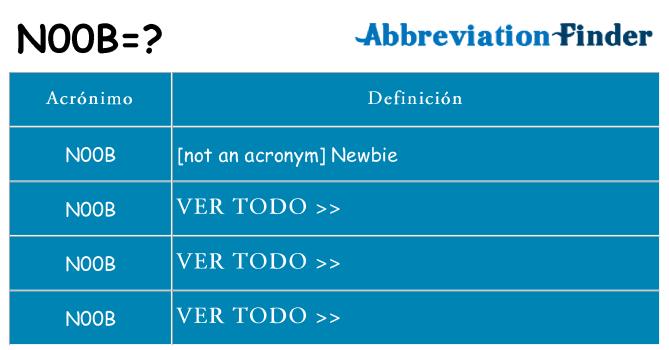 ¿Qué quiere decir n00b