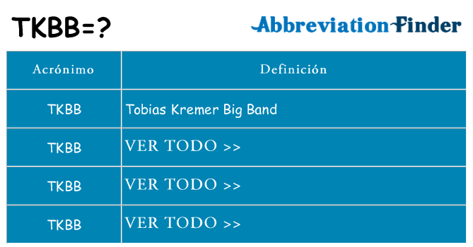 ¿Qué quiere decir tkbb