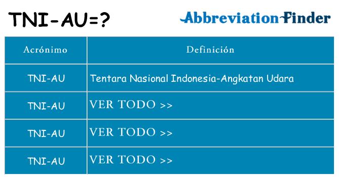 ¿Qué quiere decir tni-au