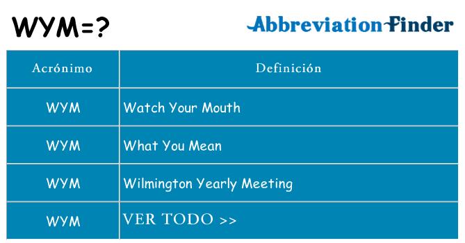 qué significa en español