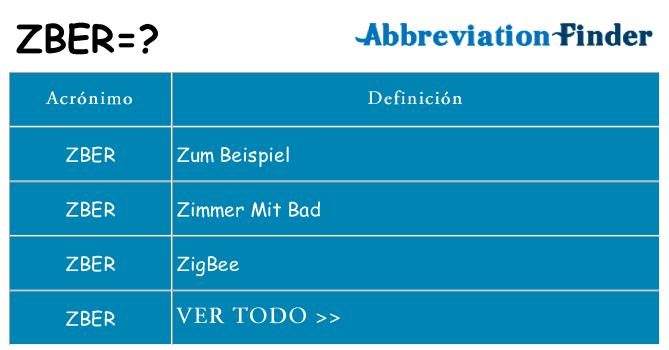 ¿Qué quiere decir zber