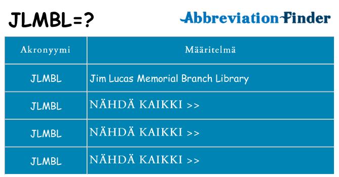 Mitä jlmbl tarkoittaa