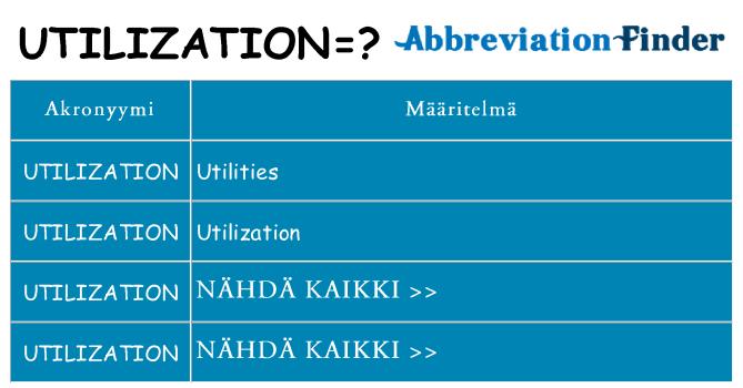 Mitä utilization tarkoittaa