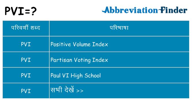 pvi का क्या अर्थ है