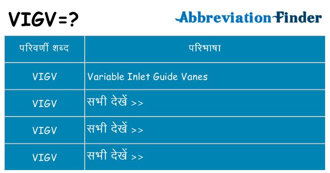 vigv का क्या अर्थ है