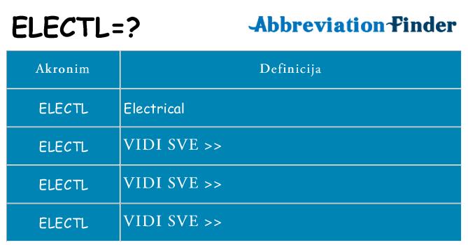 Što znači electl?
