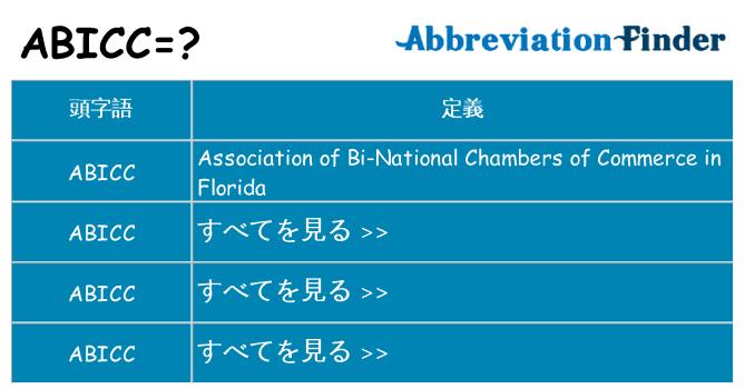 abicc は何の略します。