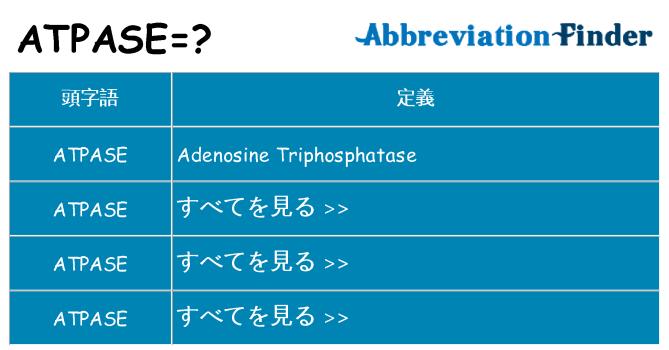 atpase は何の略します。