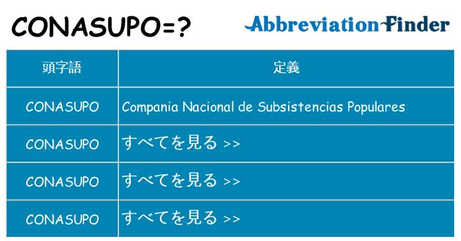conasupo は何の略します。