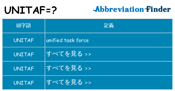 unitaf は何の略します。