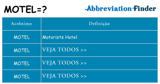 motel de quê