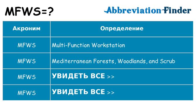 Что означает аббревиатура mfws