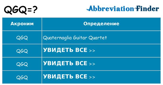 Что означает аббревиатура qgq