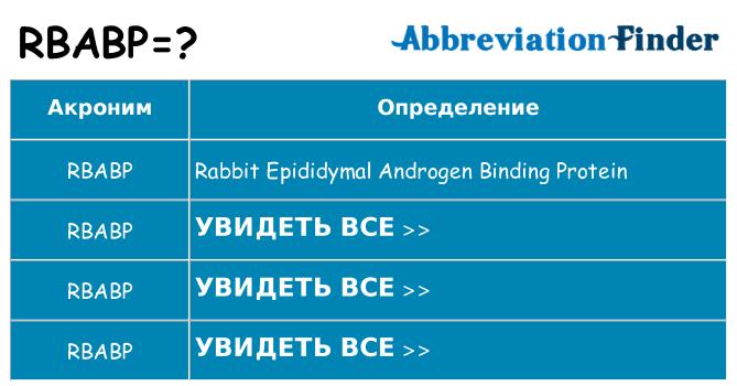 Что означает аббревиатура rbabp