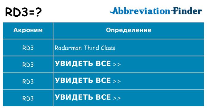 Что означает аббревиатура rd3