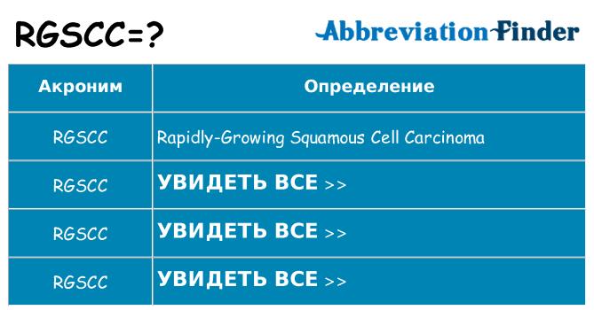 Что означает аббревиатура rgscc