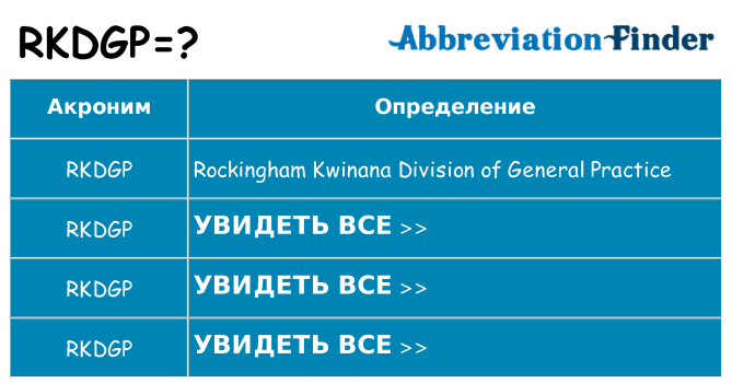 Что означает аббревиатура rkdgp