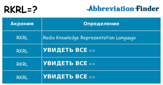 Что означает аббревиатура rkrl