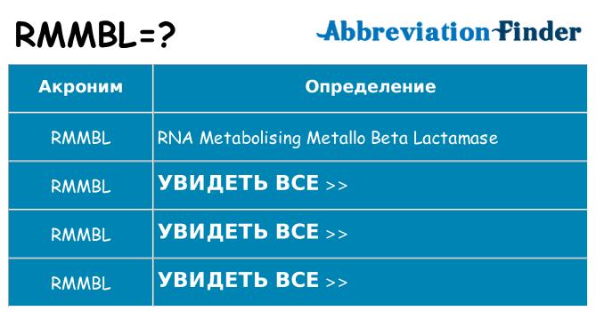 Что означает аббревиатура rmmbl