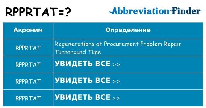 Что означает аббревиатура rpprtat
