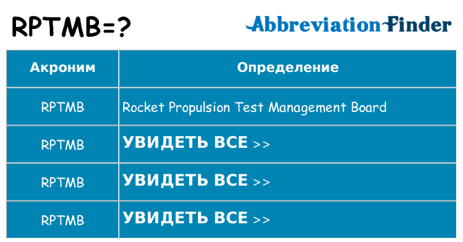 Что означает аббревиатура rptmb