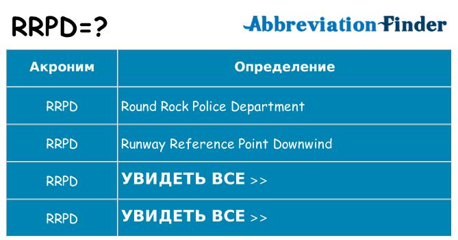 Что означает аббревиатура rrpd