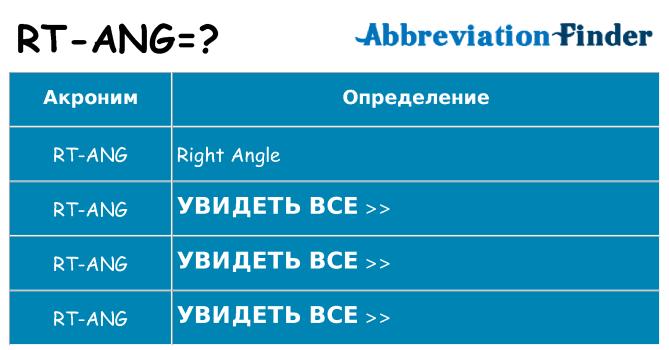 Что означает аббревиатура rt-ang