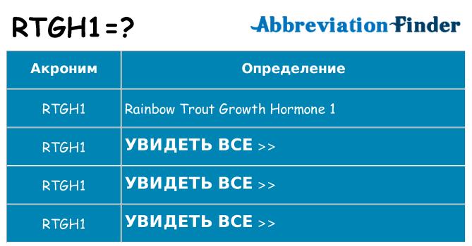 Что означает аббревиатура rtgh1