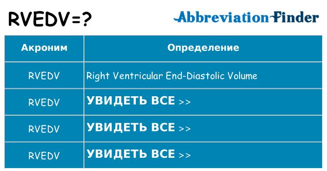 Что означает аббревиатура rvedv