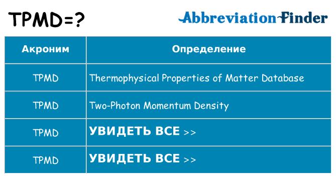 Что означает аббревиатура tpmd