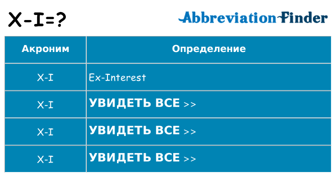 Что означает аббревиатура x-i
