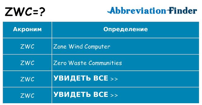 Что означает аббревиатура zwc