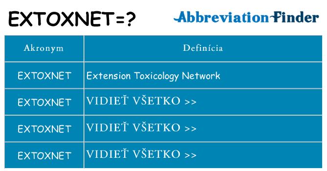 Čo stojí za extoxnet