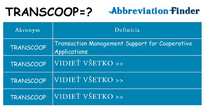 Čo stojí za transcoop