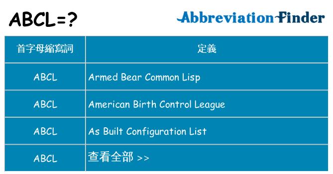 abcl 代表什麼