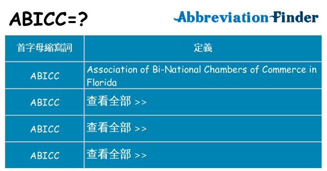abicc 代表什麼