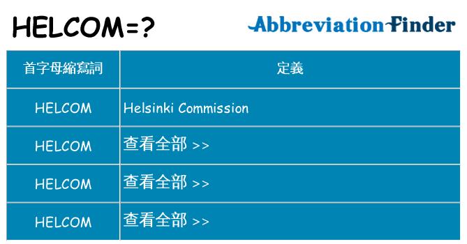 helcom 代表什麼