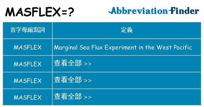 masflex 代表什麼